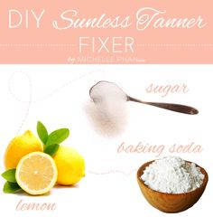 DIY: Sunless Tanner Fixer - How to fix a self tanning mistake. For the golden spray tan tips visit http://sunlesstanninghq.com/spray-tan-tips/