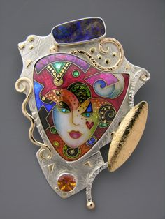 Exquisite cloisonne from Alexa and Peter Smarsh of Enamelights jewelry.