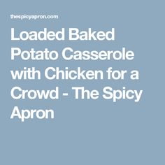 Loaded Baked Potato Casserole with Chicken for a Crowd - The Spicy Apron