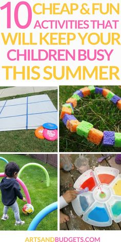 Fun games for children and toddlers during the summer! We don't have a swimming pool close to us so we need to be creative and make sure we get outside and do fun things.