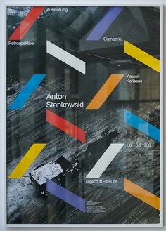 Gunter Rambow: Ausstellungsplakat Anton Stankowski, 1986 by ReneSpitz, via Flickr