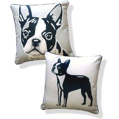 Naked Decor Doggie Style Reversible Boston Terrier Pillow. ... well look at that.