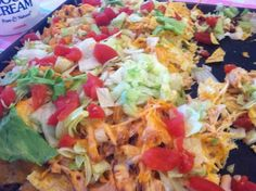 Easy crockpot chicken nachos. These could not be easier or more delicious. Choose any toppings you like!