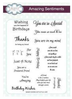 Creative Expressions Amazing Sentiments  Stamp Collection - CEC702 by PNWCrafts on Etsy