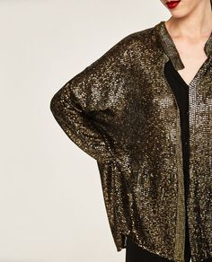 ZARA - WOMAN - SEQUINNED AND EMBROIDERED CARDIGAN