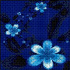 """Blue Fantasy"" ~ free cross stitch chart"