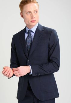 Tiger of Sweden LAMONTE - Suit - balaine blue for with free delivery at Zalando Tiger Of Sweden, Business Men, Men's Wardrobe, Suit And Tie, Fabric Material, Mens Suits, Suit Jacket, Legs, Wool