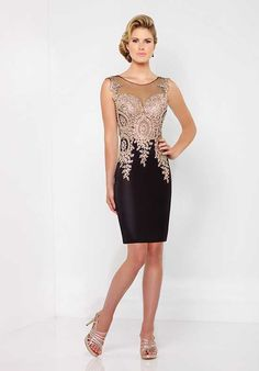 Social Occasions by Mon Cheri 116855 Black Mother Of The Bride Dress
