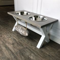 Cute new X-Base Feeders available! dog station Updates from TwoMooseDesign on Etsy Dog Food Stands, Dog Food Bowl Stand, Dog Feeding Station, Dog Station, Dog Furniture, Dog Rooms, Best Dog Food, Dog Training, Dog Food Recipes