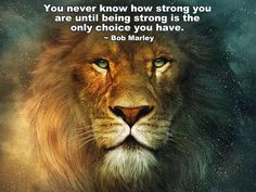You never know how strong you are, until being strong is the only choice you have. /Bob Marley/