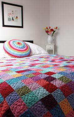 Solid Granny Square Blanket: Inspiration!
