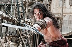 A gallery of Conan the Barbarian publicity stills and other photos. Featuring Jason Momoa, Stephen Lang, Rachel Nichols, Rose McGowan and others. 2011 Movies, Man Movies, Good Movies, Jason Momoa Conan, Jason Momoa Aquaman, Conan The Barbarian 2011, Jason Momoa Movies, Leo Howard, Stephen Lang