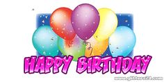 Quotes birthday wishes glitter graphics 34 Ideas Animated Happy Birthday Wishes, Nice Birthday Messages, Happy Birthday Pictures, Birthday Gifs, E Greetings, Birthday Greetings, Purple Happy Birthday, Birthday Blessings, Glitter Graphics