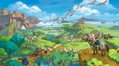 Fantasy Life game helps you to play real life in game Fantasy Life, High Fantasy, Space Fantasy, Video Game Posters, Video Game Art, Video Games, Ni No Kuni, Life Poster, Cartoon Background