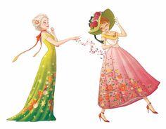 if Elsa is spring. Frozen Disney, Elsa Frozen, Frozen Art, Disney Magic, Disney Nerd, Disney Marvel, Disney Fan Art, Disney Dream, Disney Style