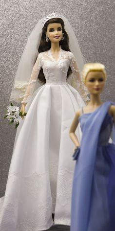 Barbie Kate Middleton bridal gown bride