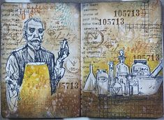 jehkotar: Stamp on Your Art Journal # 7