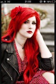 Red hair colour idea