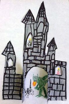 Castle Craft (opened doors and windows!!) #kidscrafts #diykids