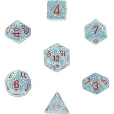 Air Hockey Equipment for Kids - Polyhedral 7Die Chessex Dice Set  Speckled Air -- Find out more about the great product at the image link.
