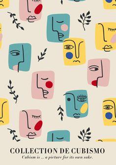 Cubism Collection Poster — HypeSheriff Vintage French Posters, Vintage Concert Posters, Collage Vintage, Vintage Wall Art, Event Poster Design, Poster Design Inspiration, Graphic Design Posters, Framed Art Prints, Poster Prints