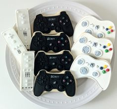 Gamer Decorated Cookies Wii Xbox and Playstation by peapodscookies, $52.00