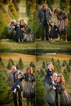 cute idea. christmas pictures in a christmas tree farm.