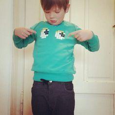 Sweatshirt by boys&girls pixel eyes green kids clothing cool kids