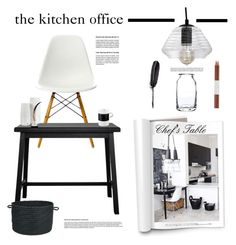 The Kitchen Office by barngirl on Polyvore featuring interior, interiors, interior design, home, home decor, interior decorating, Vitra, Carolina Cottage, ASA and Colonial Mills