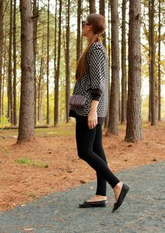 layered oversized sweater, leggings, flats, and crossbody...check out more looks on my blog, Life as Leah : )
