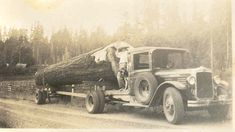 early 1900s Logging Truck, East end of Lewis County