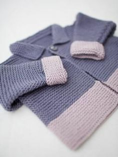Garter Stitch Jacket ~ Free Knitting Pattern