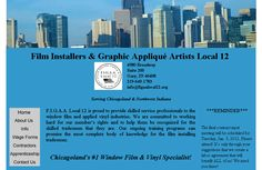 F.I.G.A.A. Local Union 12  Film Installers and Graphic Applique Artists Local Union 12; simple HTML site, minimal links, minimal graphics, tables