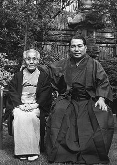 Daisaku Ikeda and his mother in 1970.