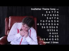 """In this harmonica lesson, Harmony CaPleur features the theme from """"The Godfather"""" as she discusses the importance of breathing from your gut instead of the top of your lungs. Theme Tunes, Theme Song, Harmonica Lessons, Music Theory, Lungs, The Godfather, Spirit Halloween, Harp, Writing"""