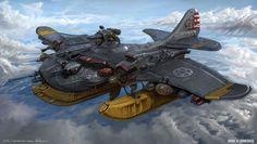 USA Combat water plane by MichalKus