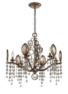View the Eurofase Lighting 25655 Capri 6 Light Single Tier Crystal Chandelier at LightingDirect.com. Might be for Master bedroom.