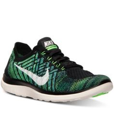 Nike Free Flyknit 4.0 Running Sneakers fabric/synthetic black/sail/voltage green sz7.5 119.99 2/16