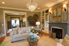 Norton Commons Charity House 2012 - traditional - living room - louisville - Leslie Lewis & Associates