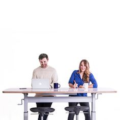 """Collaborate at Confluence, our standing height conference table. #standingdesk"""