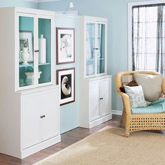 How to Make a Room Divider  This nifty closet/room divider neatly organizes living room space into a hardworking entry. There's room for hanging coats on one side an