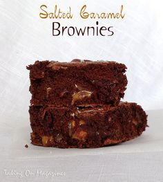 Salted Caramel Brownies | Taking On Magazines | www.takingonmagazines.com