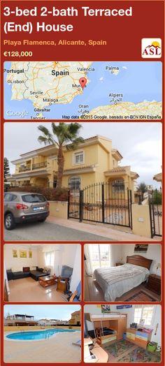 3-bed 2-bath Terraced (End) House in Playa Flamenca, Alicante, Spain ►€128,000 #PropertyForSaleInSpain