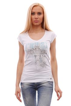 Women's white short-sleeved V-neck tee, fashionable t-shirt with stylish graphic #BrutalStreetLife #GraphicTee #streetwear #streetfashion #tees #tshirts #fashion #fashionista #fashionable #streetstyle