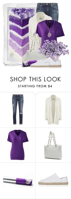 """""""A Piece of Cake......"""" by queenrachietemplateaddict ❤ liked on Polyvore featuring mode, AG Adriano Goldschmied, Maison Scotch, Lands' End, Chanel, Topshop, Helix & Felix, purple, cardigan en cake"""
