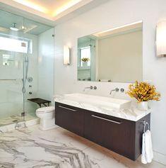 Bathroom ceiling cove lighting