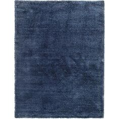 Unique Loom Luxe Solo Navy Blue Area Rug