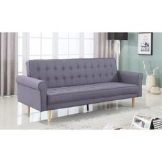 Shop for Mid-Century Modern Vintage Style Linen Sleeper Futon Sofa. Get free shipping at Overstock.com - Your Online Furniture Outlet Store! Get 5% in rewards with Club O!
