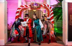 Personagens vivos - Festa Tomorrowland