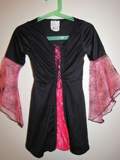 Pink Spider Witch Dress Halloween Costume Size Small Dress Only #Unbranded…